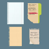Paper notes sheet for message vector illustration. Royalty Free Stock Images