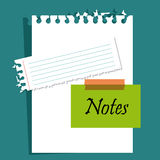 Paper, notes and sheets Stock Image