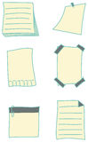 Paper notes and stickies collection Stock Image