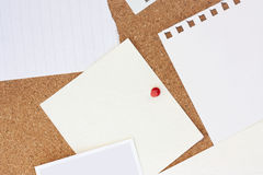 Paper on noticeboard Royalty Free Stock Images