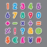 Paper number and symbol Stock Images