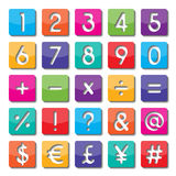 Paper number and symbol Stock Image
