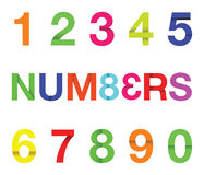 Paper number text Stock Photography