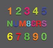 Paper number text Stock Photos
