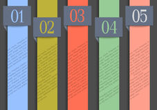 Paper numbered banners in retro colors Royalty Free Stock Photography