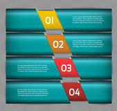 Paper numbered banners. Vector design template. Stock Image