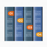 Paper numbered banners. Vector design template. Stock Photography