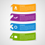 Paper numbered stickers design elements Infographic. Stock Photos