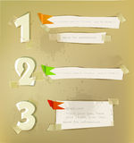 Paper numbers background, Stock Photo