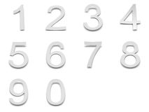Paper numbers Stock Image