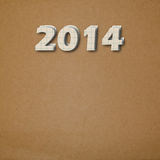 Paper numbers of new 2014 Stock Images