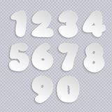 Paper numbers. With transparent shadow. Vector illustration vector illustration