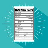 Paper with nutrition facts. Vector illustration design vector illustration