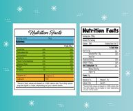 Paper with nutrition facts. Vector illustration design Stock Images