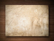 Paper on Oak wood Royalty Free Stock Images
