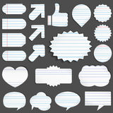 Paper objects Stock Image