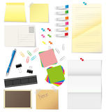 Paper and office supplies  Stock Photos