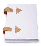 Paper with old bookmark ribbons Royalty Free Stock Images