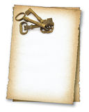 Paper with old keys Stock Image