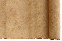 Paper old roll. Royalty Free Stock Image
