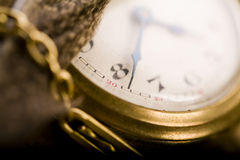 Paper and old watch Royalty Free Stock Image