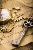 Paper & Old watch stock images
