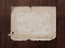 Paper on old wood texture Stock Image