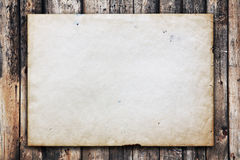 Paper On Old Wood Texture Royalty Free Stock Images