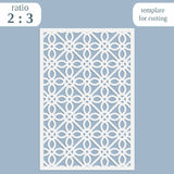 Paper openwork greeting card, template for cutting, lace invitation,  lasercut metal panel, wood carving, Stock Photo