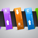 Paper Option Banner Royalty Free Stock Image