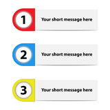 Paper option labels. Illustration of paper option labels in three colors Royalty Free Stock Images