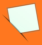 Paper on a orange background. eps10 Stock Images