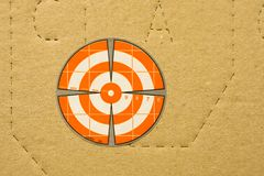 Shooting target for close-up shooting royalty free stock image