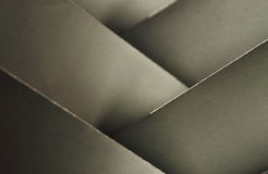 Paper origami abstract. Paper origami  abstract with a white folded paper Stock Images