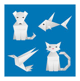 Paper Origami Animals Stock Photo
