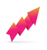 Paper origami arrow Royalty Free Stock Image