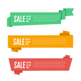 Paper origami banners Royalty Free Stock Photography
