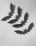 Paper origami bats, decorations for the holiday Halloween Royalty Free Stock Photo