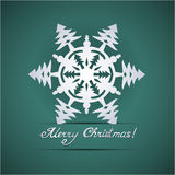 Paper origami christmas card Royalty Free Stock Photography
