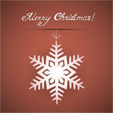 Paper origami christmas card Royalty Free Stock Photo