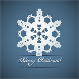 Paper origami christmas snowflake card Royalty Free Stock Photography