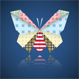 Paper origami colorful butterfly Stock Images