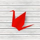 Paper origami crane Stock Photo
