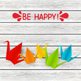 Paper origami cranes Royalty Free Stock Image
