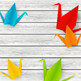 Paper origami cranes Royalty Free Stock Photography
