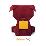 Paper origami dog Stock Images