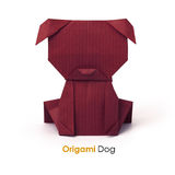 Paper origami dog Royalty Free Stock Photos