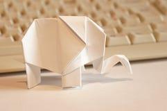 Paper origami elephant Royalty Free Stock Photos