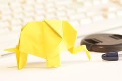 Paper origami elephant Stock Image