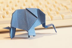 Paper origami elephant Royalty Free Stock Images